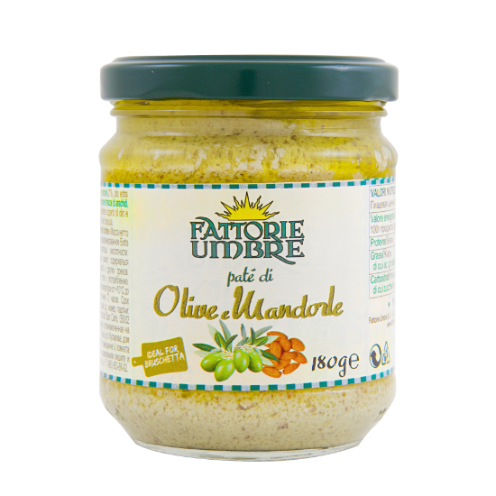 pate olive verdi mandorle